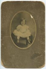 CABINET CARD YOUNG GIRL FROM ANACONDA, MONTANA, MR. VICTOR E HAGER