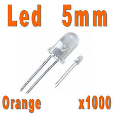 Lot de 1000 LED 5mm Oranges 5000mcd