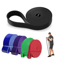 Resistance Elastic Band Exercise Gym Latex Fitness Training Stretch Belt LOT