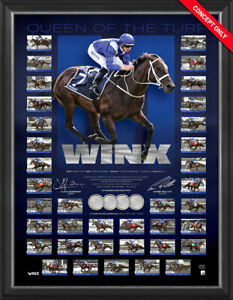 """Winx """"Queen of the Turf"""" Limited Edition Signed Official Retirement Print Framed"""
