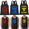 Men's Pokemon Go Gym Bodybuilding Stringer Sport Athletic Tank tops Shirts
