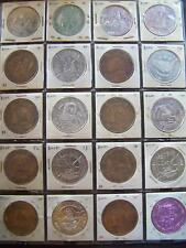Collection of 24 GCCA Aluminum+Antique Bronze Mardi Gras Doubloons--1966 - 1996