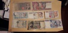 LOTTO 8 BANCONOTE REPUBBLICA ITALIANA 500 1000 2000 10000 100000 LIRE