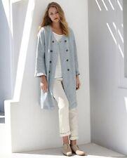 Linen Knee Length Casual Coats & Jackets for Women