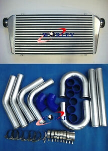 """Front Mount Intercooler 600x300x76mm+3"""" aluminium piping+blue Silicone Hose kit"""