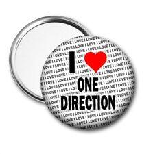 I Love One Direction Pocket / Handbag Mirror Birthday - Gift - Stocking Filler