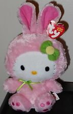 Ty Beanie Baby ~ HELLO KITTY WITH PINK EASTER BUNNY SUIT - MWCT