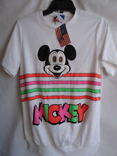 Vtg NWT NOS 80s Mickey Mouse Walt Disney TShirt Tee Moving Eyes Neon Made in USA