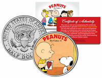 Peanuts VALENTINE'S * Charlie Brown & Snoopy * JFK Half Dollar US Coin Licensed