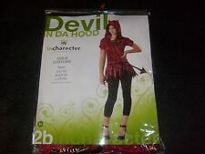 Wicked CUTE DEVIL IN THE HOOD Halloween COSTUME SIZE SMALL NEW MIP Child Dress