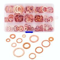 280PC Copper Flat Metric Sealing Washers Assortment Set With Case 12 Size #am8