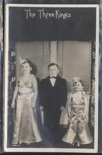 REAL PHOTO Postcard The 3 Three Kings Midget Troop 1930's