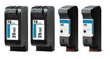 4 x comp. Ink cartridges for HP 2 x 51645AE 45 + 2 x C6578AE 78XL je 39ml Tinte