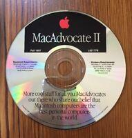 Vtg 1997 Macintosh MacAdvocate 2 II Mac 7.1 Program Software Installation CD