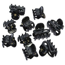 10 Mixed Small Plastic Black Hair Clips Hairpin Claws Clamps Popular a