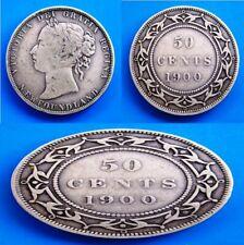 CANADA - NEWFOUNDLAND - 1900 - 50 Cents - KM# 6 - SILVER