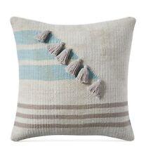 "Lucky Brand 18"" Square Decorative Pillow Stripe Tassel T97071"