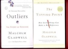 2 Malcolm Gladwell books: Outliers - Story of Success + Tipping Point