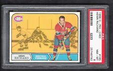1968 OPC #165 Henri Richard, HOF, PSA 8 NM-MT, Canadiens Vintage Hockey 1968-69
