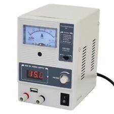 CSI 1501X Adjustable DC Regulated LINEAR Bench Power Supply 0-15V 0-1A USB port