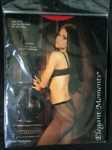 Womens RED FISHNET PANTYHOSE Stockings Theater Costume Hosiery One Size 1733