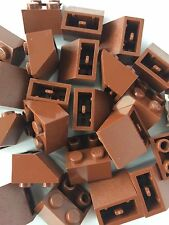 Lego New Lot of 24 Brown 2x2 Slope Inverted Bricks Roof Tile 2 X 2