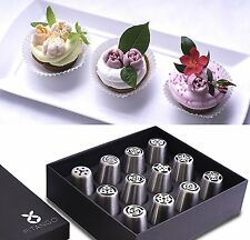 Russian Piping Tips - Cake Baking Supplies - 12 Pcs Set For Cake Designs - Steel