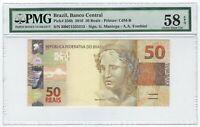 50 Reais Brasilien BB 2010 PMG 58 EPQ Choice About UNC - Brazil P.265b