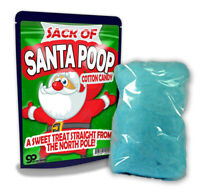 Santa Poop Cotton Candy for Kids - Stocking Stuffers for Christmas - Cute - Fun