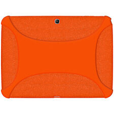 Amzer Soft Rubber Skin Fit Case Cover for Samsung Galaxy Tab 3 10.1 Orange