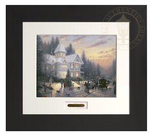 Thomas Kinkade Victorian Christmas 11x14 Modern Home Collection Espresso Frame