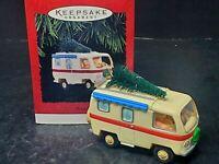 1995 Hallmark Merry RV Camper Christmas Keepsake Ornament Mr. & Mrs. Santa