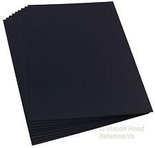 Plasticard 9 Black Assorted Sheets Matt Finish Styrene Size A4+ Mixed HIPS