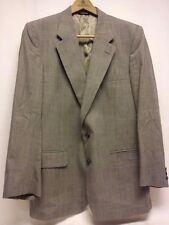 Burberrys Blazer Jacket Mens Sz 40R Wool Plaids Checks Charcoal Gray