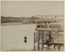 Photo Tirage Albuminé Geisha Japon Japan Vers 1880