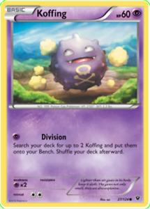Pokemon TCG XY Fates Collide Koffing 27/124 - Brand New Genuine
