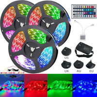15M 10M 3528 RGB LED Strip Light 44Key Remote String Light for TV Room Bar Disco