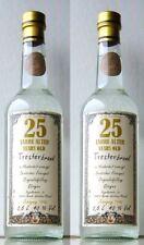 2x 25 Jahre alter Tresterbrand von der Mosel á 0,5 L Gold {Grappa Marc Trester}.