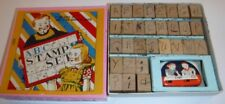 Vintage ABC Stamp Set w/Ink Pad Children's Toy Original Box Made Japan