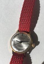 Vintage Red Watch KIENZLE SELECTA 17 Jewels Women's Wind Winding