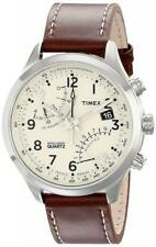 Timex T2N932, Men's Inteliigent Quartz Flyback, Brown Leather Watch, Chronograph