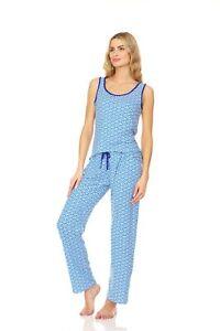 PJL938 Women Pajamas Pants Set Sleeveless Sleepwear Woman Sleep Nightshirt