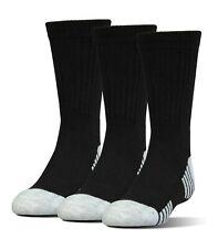 UNDER ARMOUR Heatgear Tech Crew Socks 3 Pack Youth (13.5K-4Y) Women's (4-6)