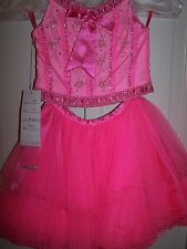 NWT Girls PERFECT ANGEL 1194 Pageant Dance Dress Gown Pink Morganite 3T