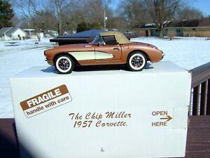 Danbury Mint 1/24th Scale 1957 Corvette--`CHIP MILLER`-VERSION--PAPERWORK & BOX-