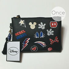 DISNEY MICKY AND MINNIE GLITTER ICONS Zip Pochette Purse from Primark