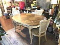 Antique French Provincial White Furniture Co Mebane Dining Table