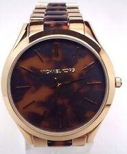 Michael Kors MK4284 Runway Gold Tortoise Acetate Ladies Watch BROKEN!!!