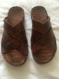 Men's Pikolinos brown leather slip on mule sandals size 9/43 Brand New