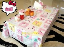 "Hello Kitty Cotton Table Cloth 67 "" x 46 "" Home Kitchen Household K466"